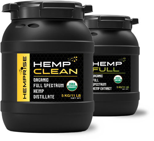 Hemprise HempCLEAN and HempFULL Product Containers